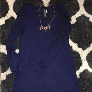 Francesca's Navy shift dress